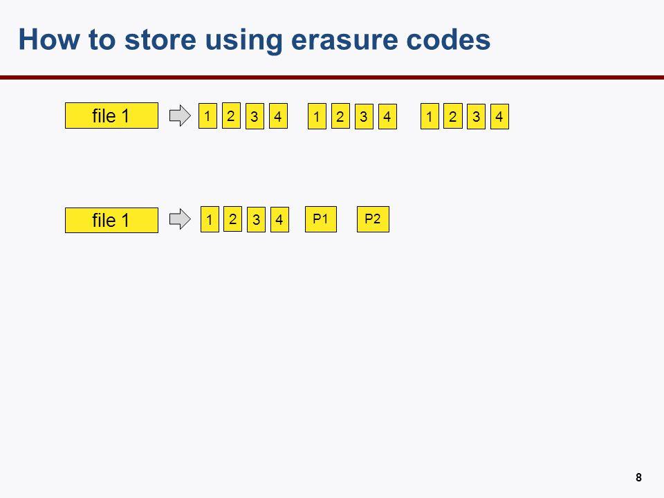 how to store using erasure codes