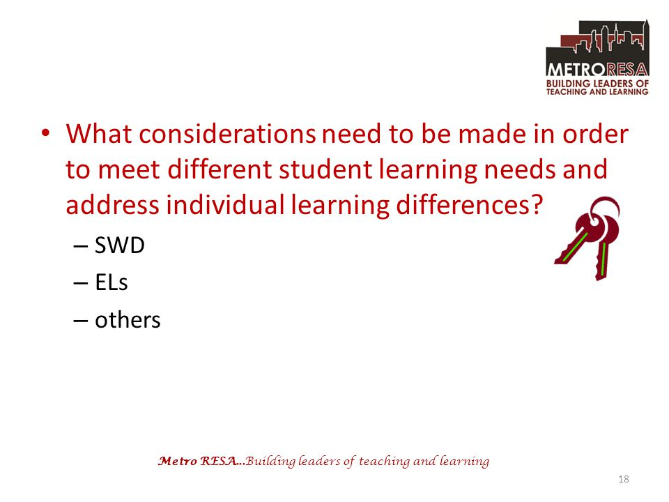 What considerations need to be made in order to meet different student learning needs and address individual learning differences