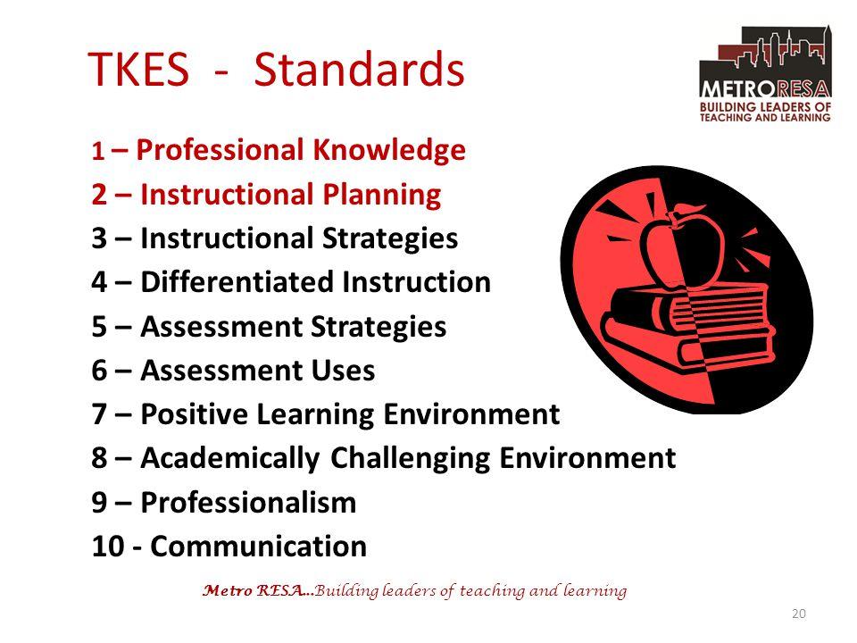 TKES - Standards 2 – Instructional Planning
