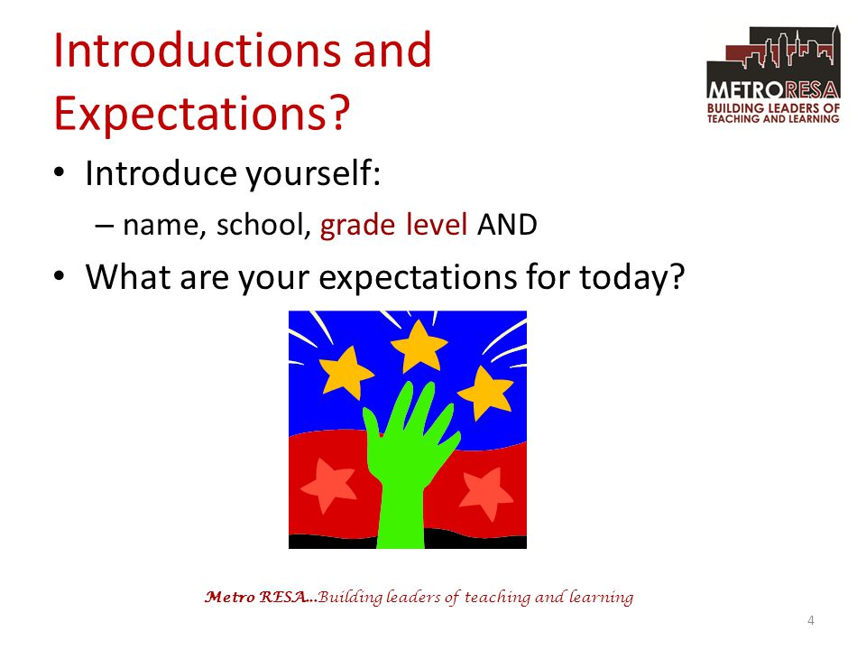 Introductions and Expectations