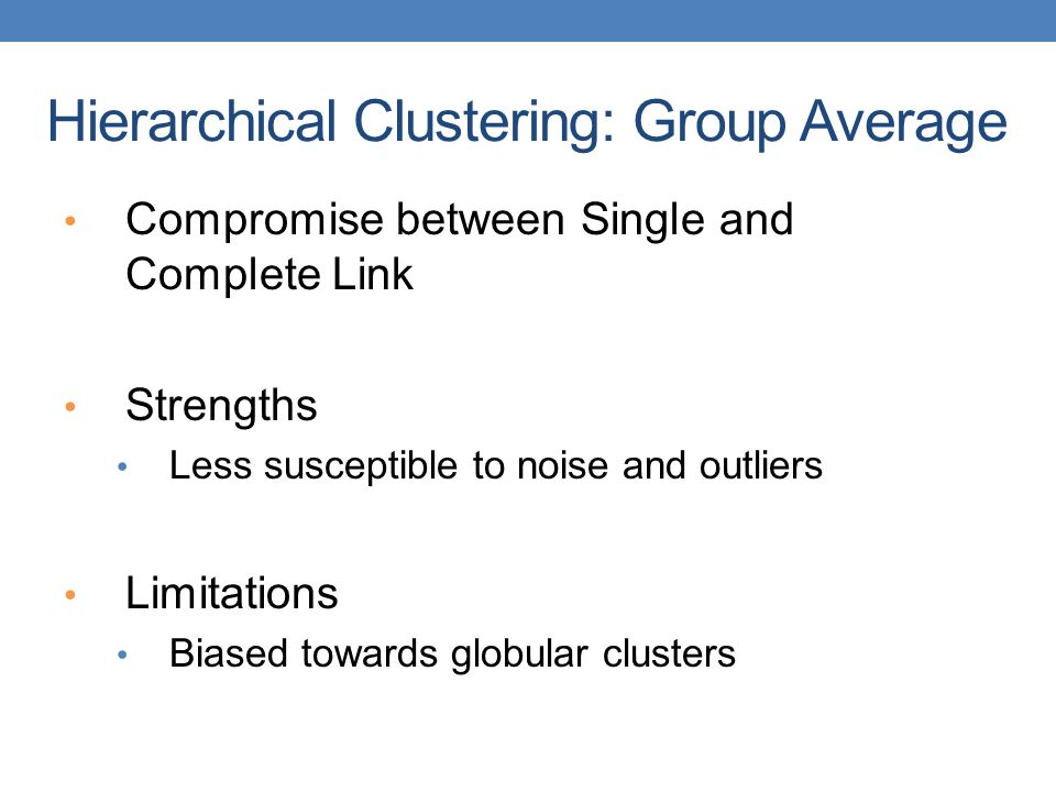 Hierarchical Clustering: Group Average
