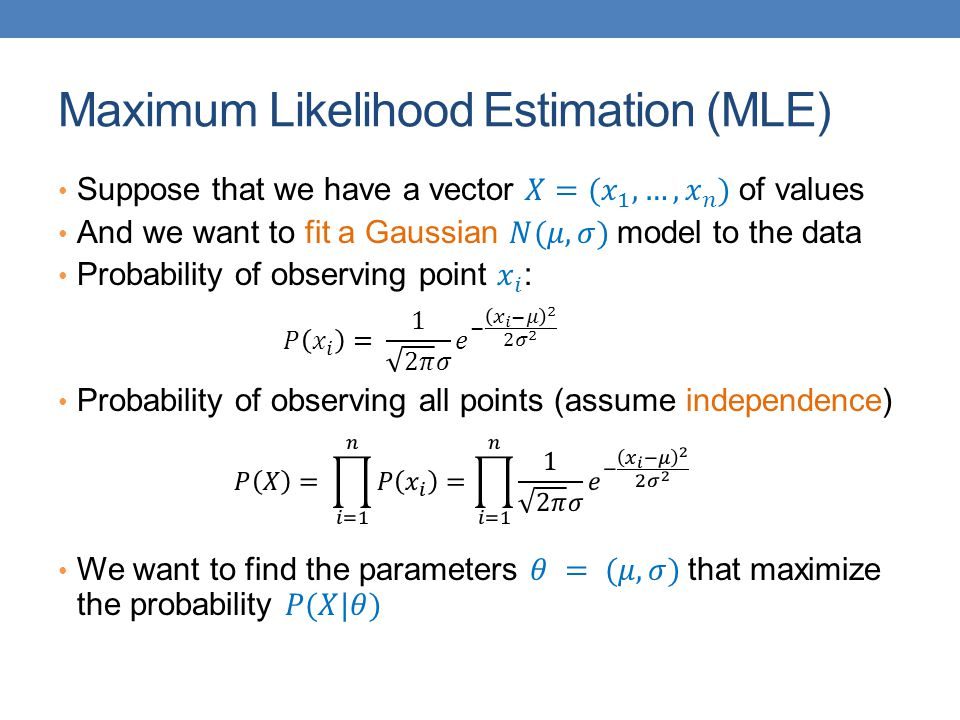 Maximum Likelihood Estimation (MLE)
