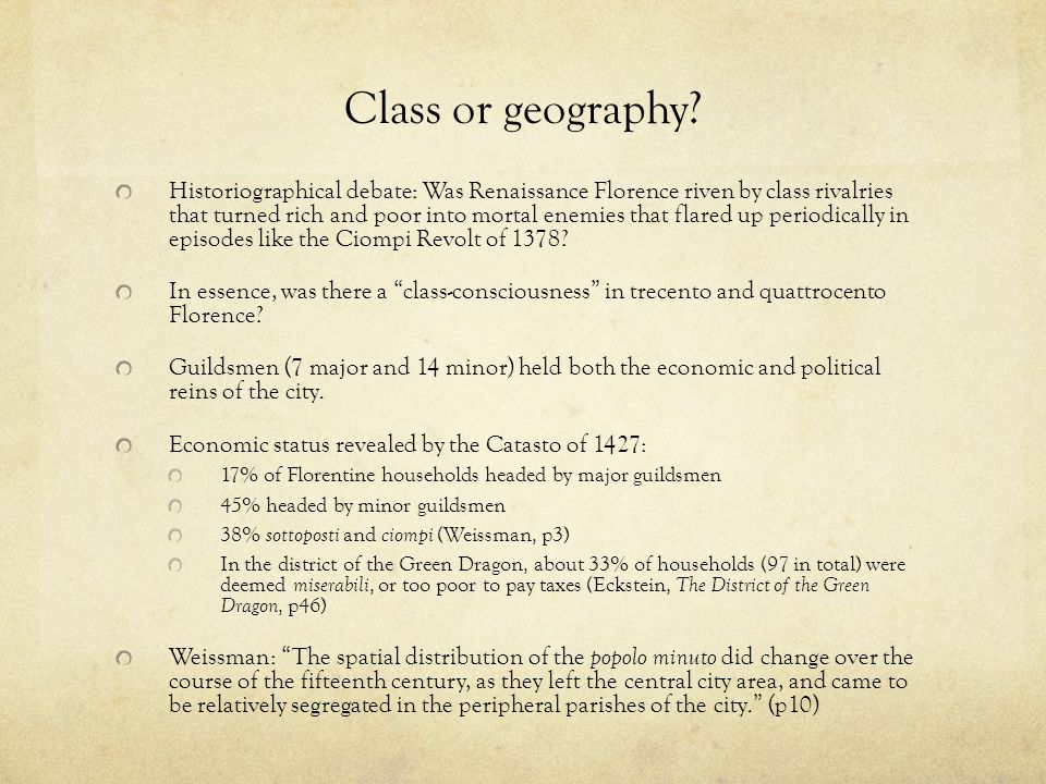 Class or geography