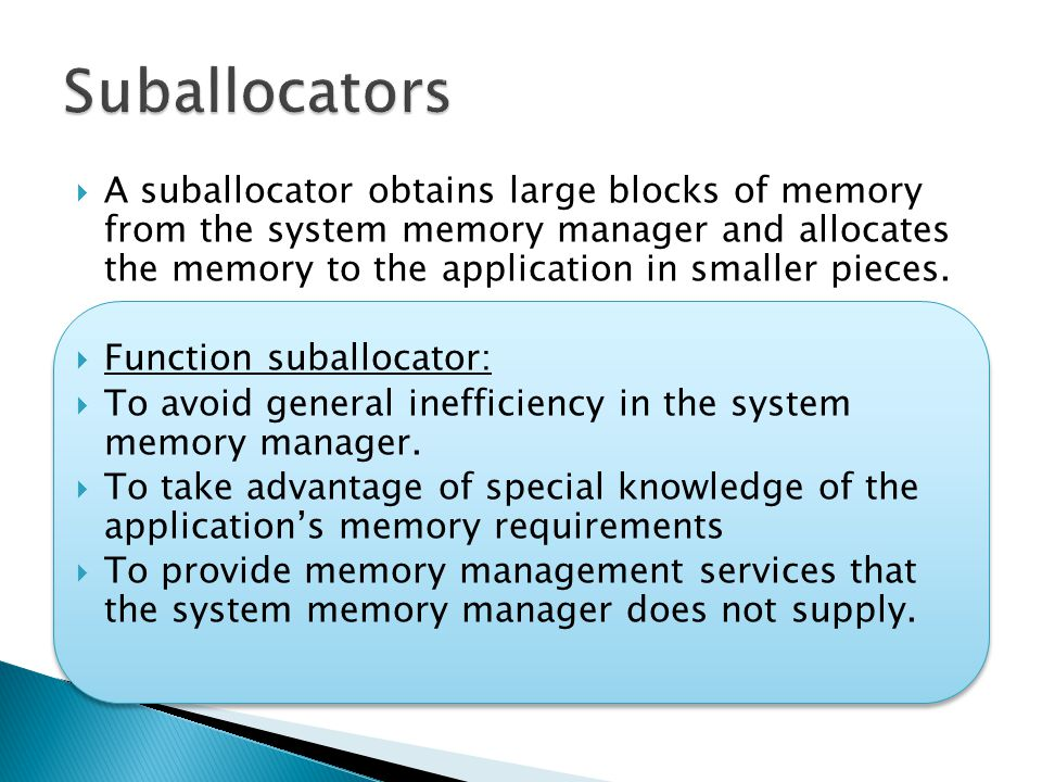 Suballocators