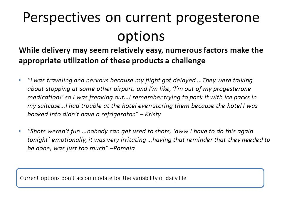 Perspectives on current progesterone options