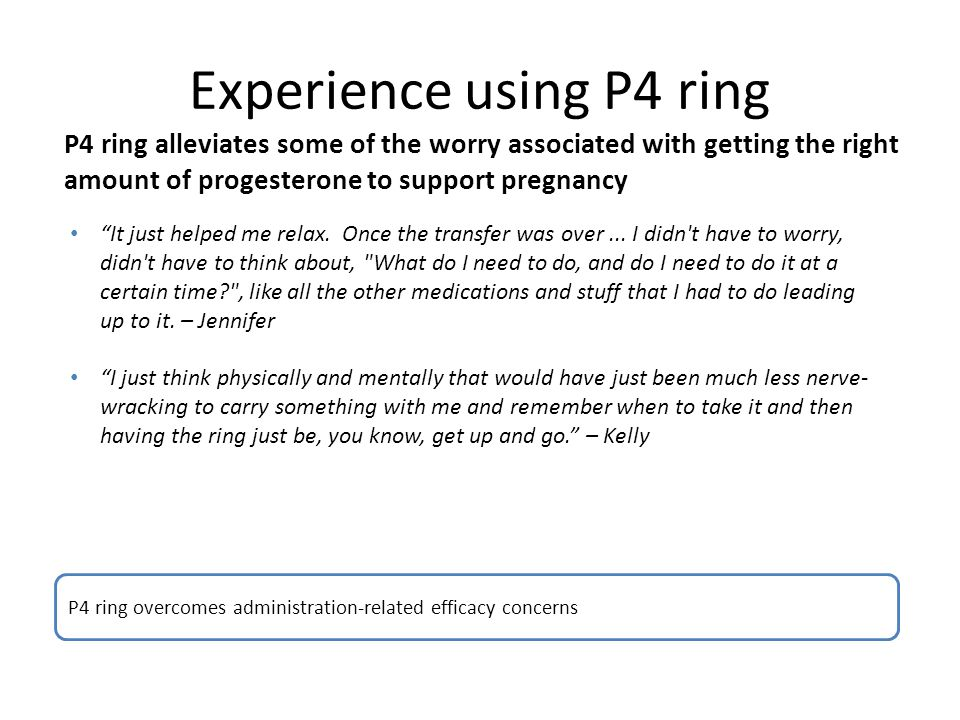 Experience using P4 ring