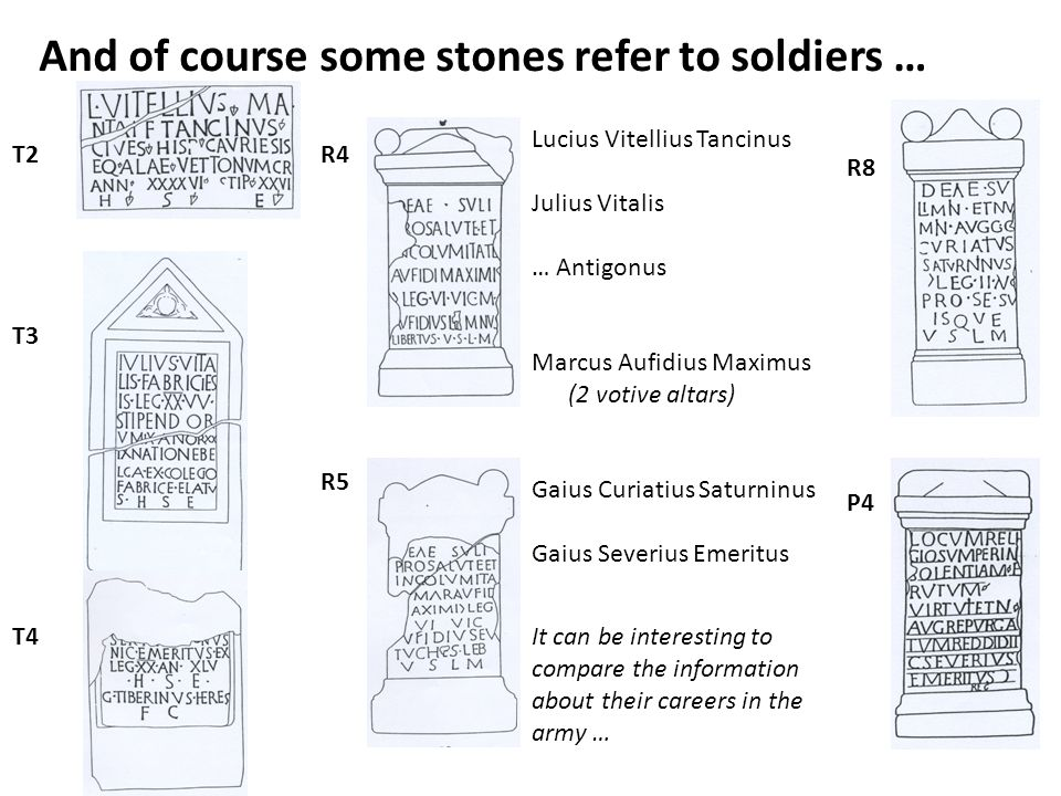 And of course some stones refer to soldiers …