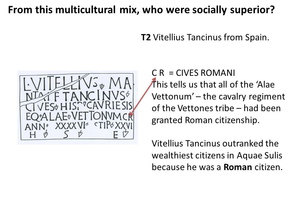 From this multicultural mix, who were socially superior