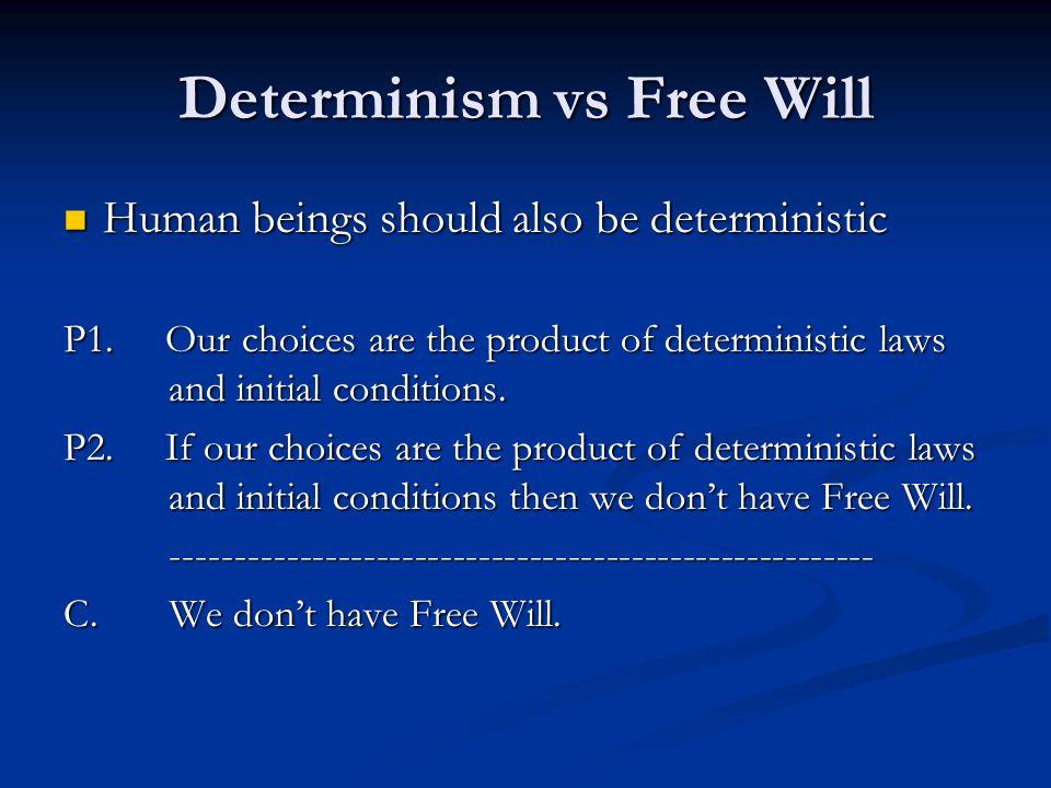 Determinism vs Free Will
