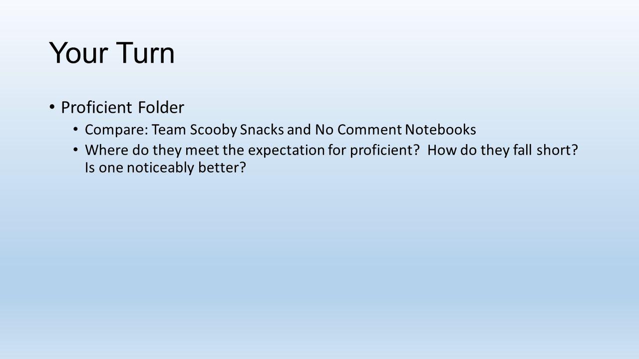 Your Turn Proficient Folder