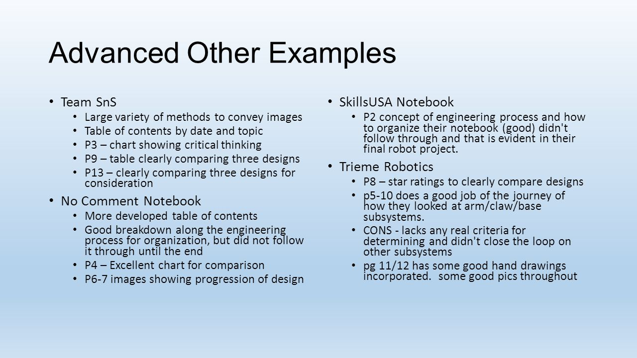 Advanced Other Examples