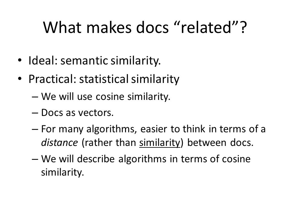 What makes docs related