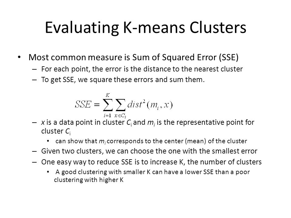 Evaluating K-means Clusters