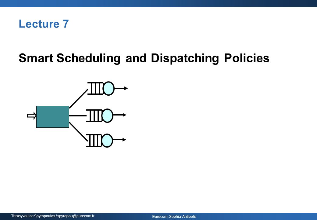 Smart Scheduling and Dispatching Policies