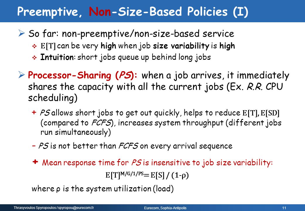 Preemptive, Non-Size-Based Policies (I)