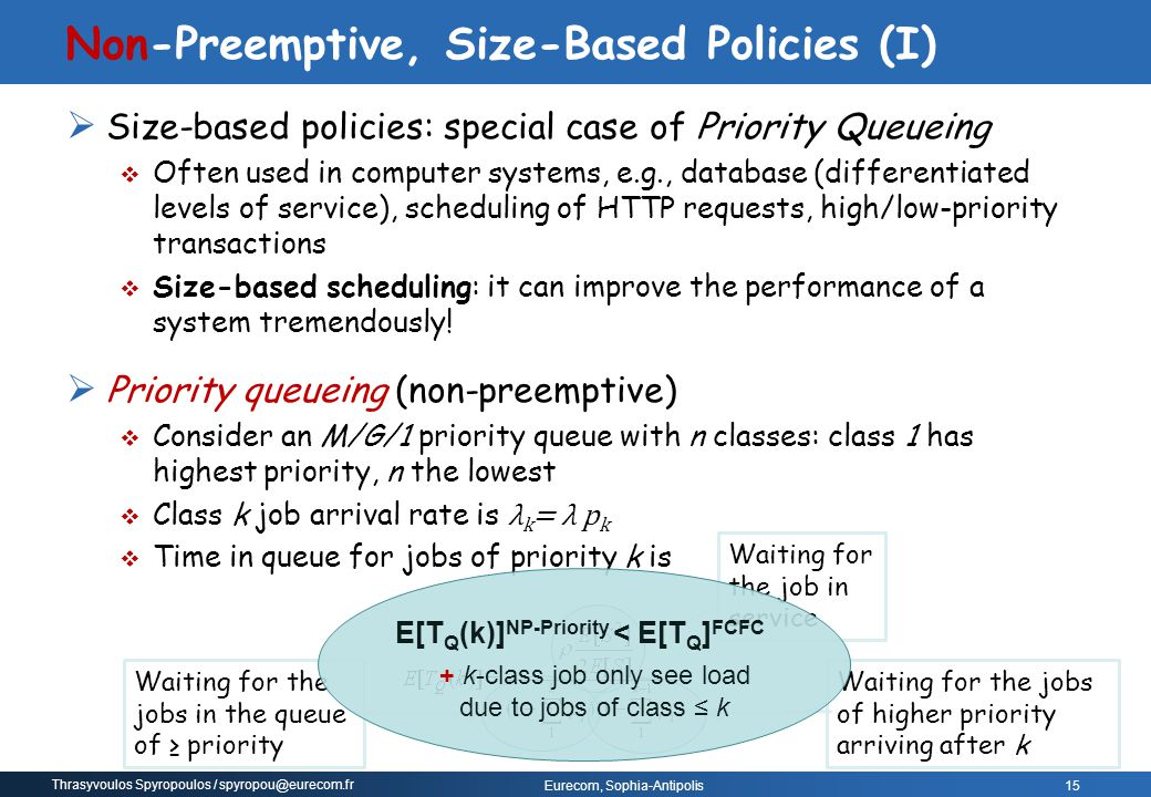 Non-Preemptive, Size-Based Policies (I)