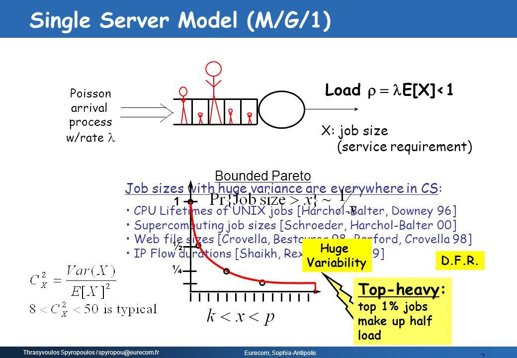 Single Server Model (M/G/1)