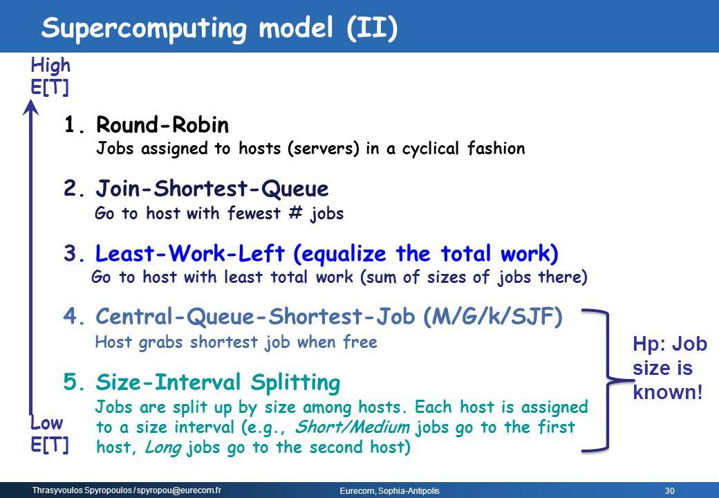 Supercomputing model (II)