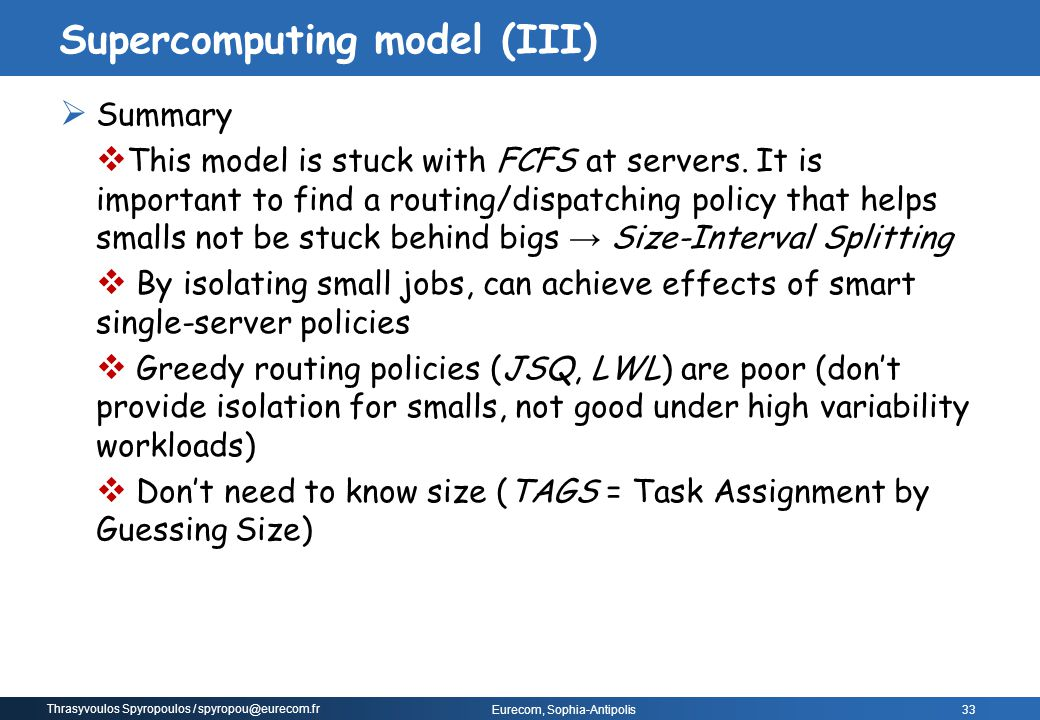 Supercomputing model (III)