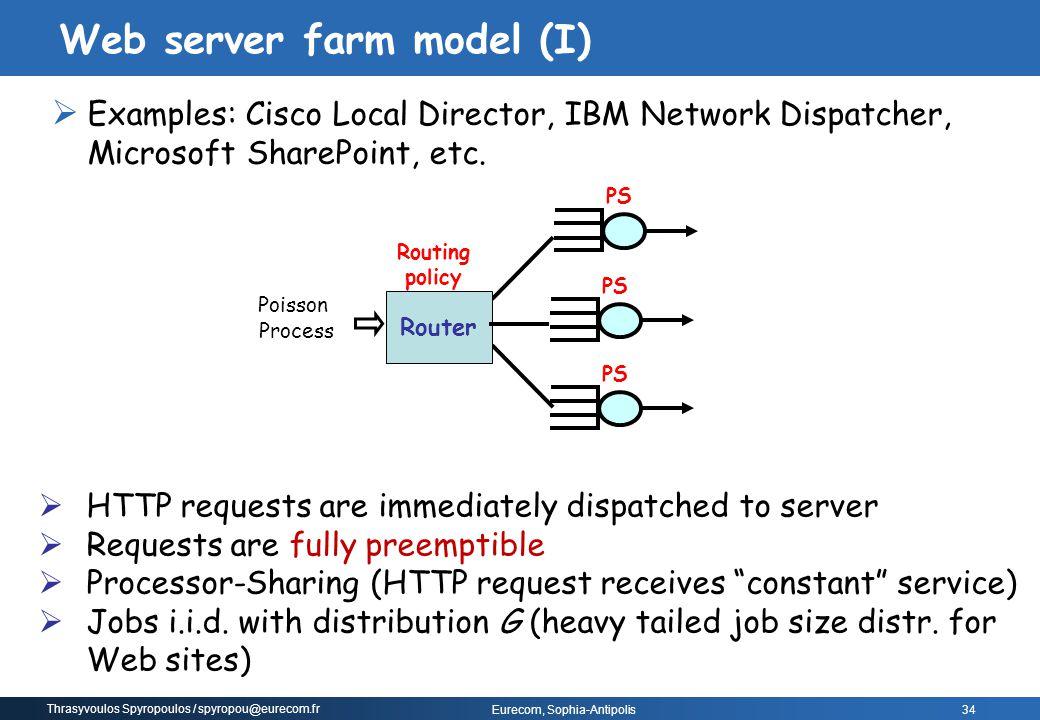 Web server farm model (I)