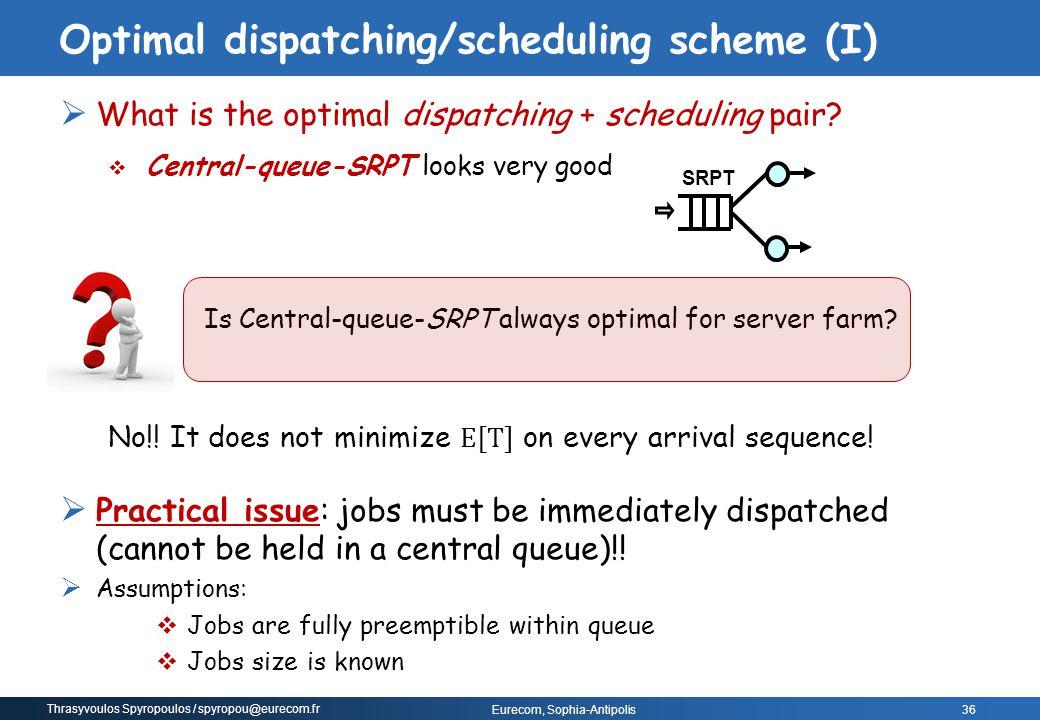 Optimal dispatching/scheduling scheme (I)