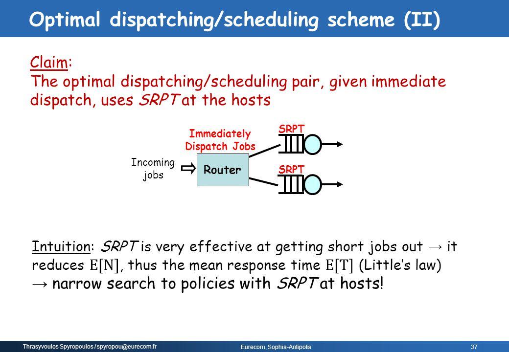 Optimal dispatching/scheduling scheme (II)