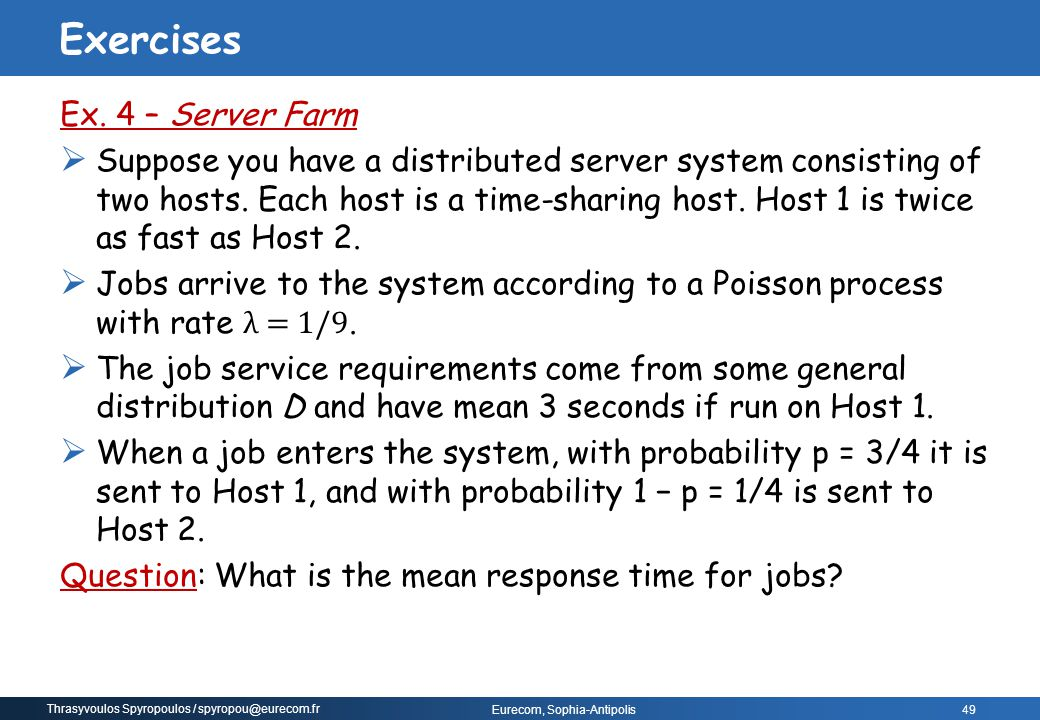 Exercises Ex. 4 – Server Farm