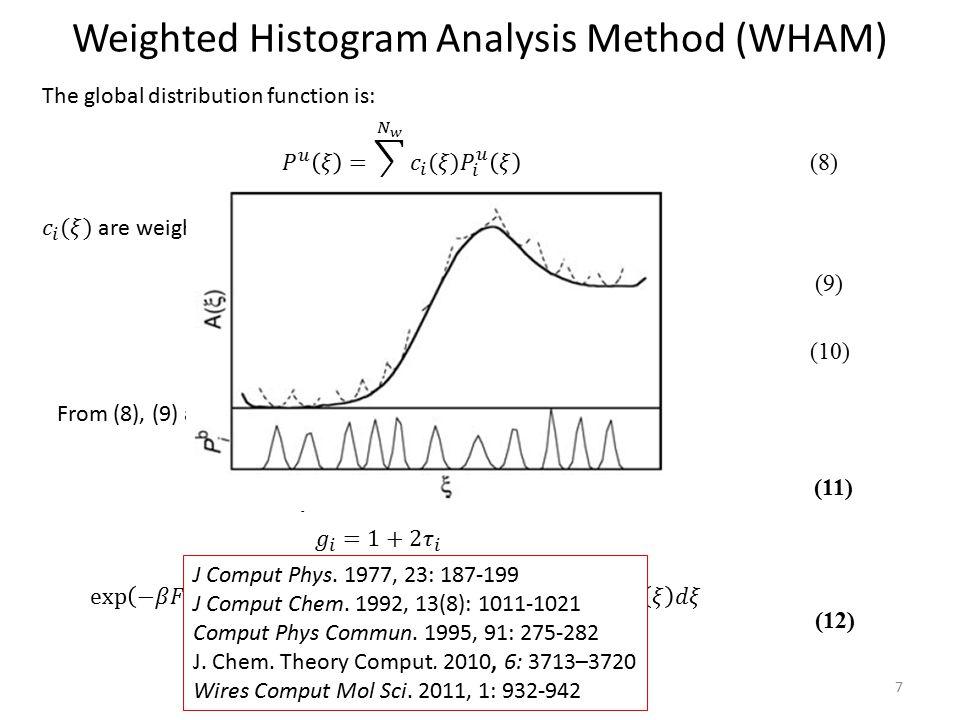 Weighted Histogram Analysis Method (WHAM)