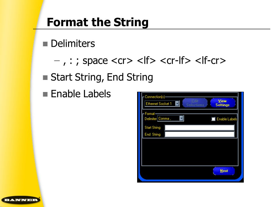Format the String Delimiters