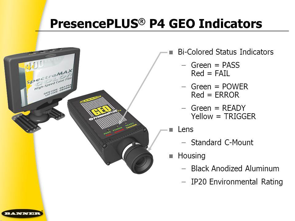 PresencePLUS® P4 GEO Indicators