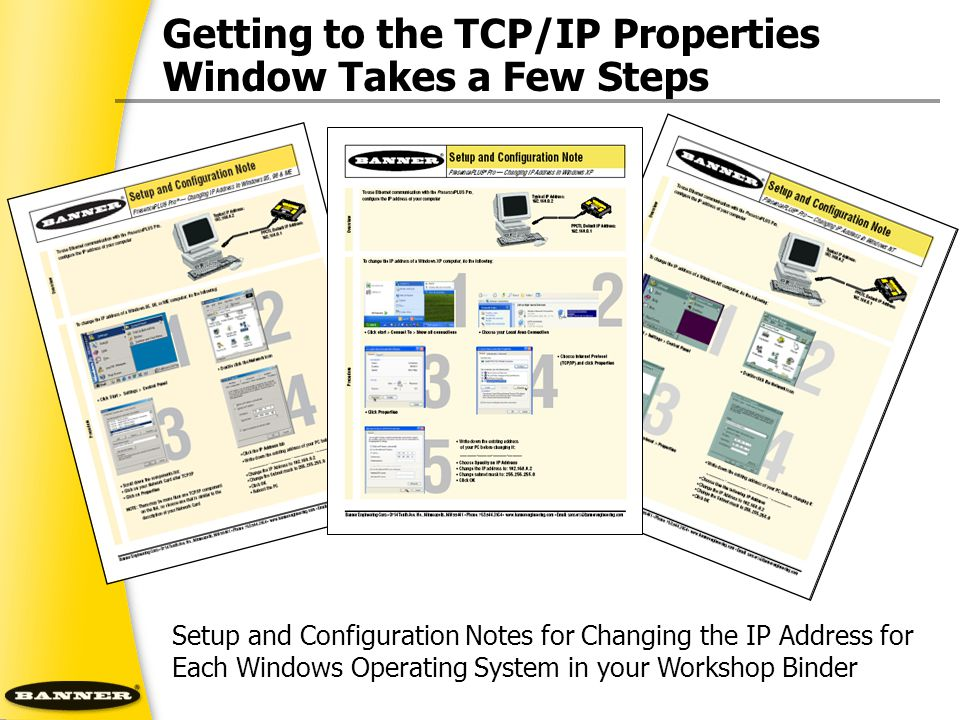 Getting to the TCP/IP Properties Window Takes a Few Steps
