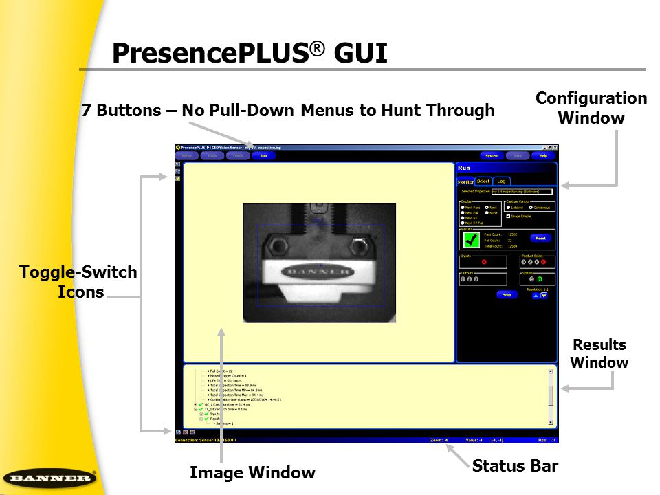 PresencePLUS® GUI Configuration Window