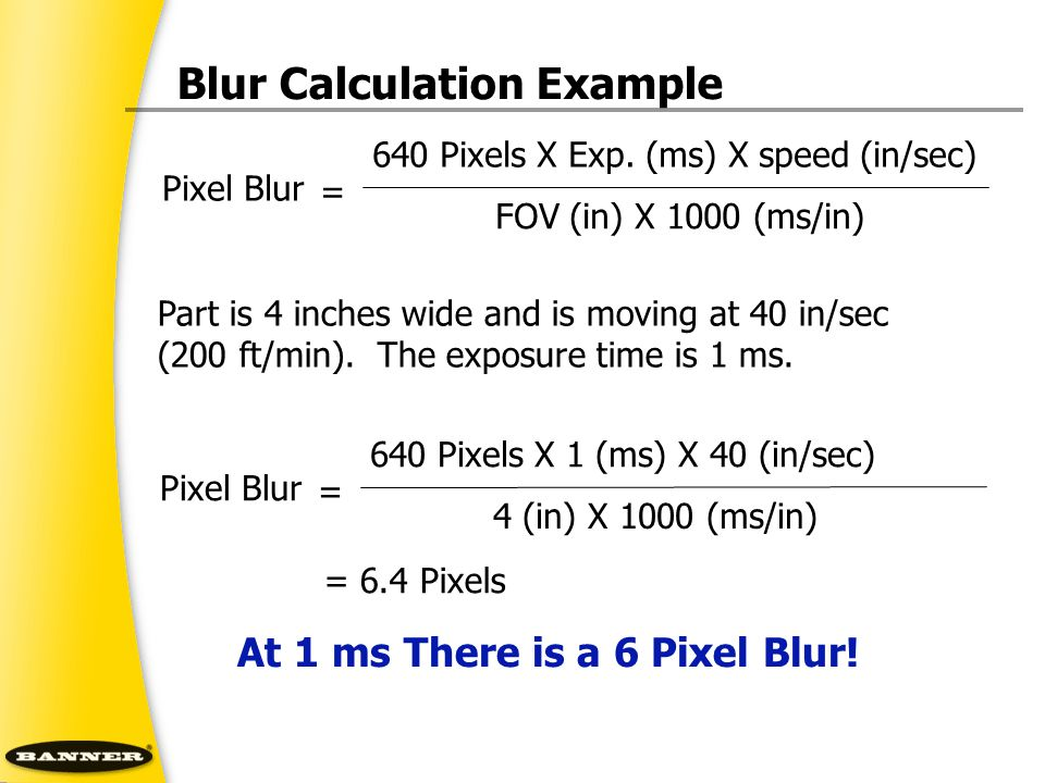 Blur Calculation Example