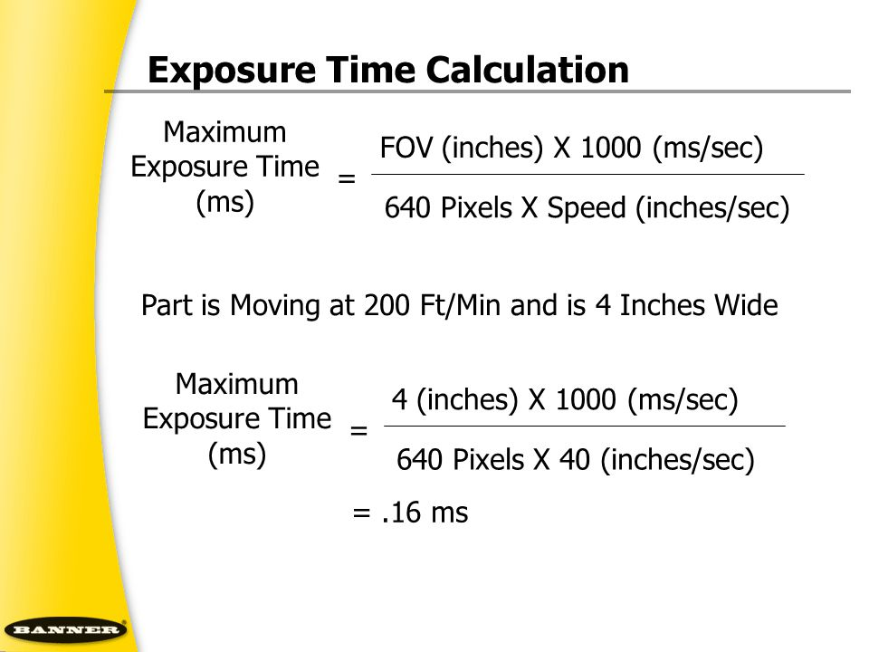 Exposure Time Calculation