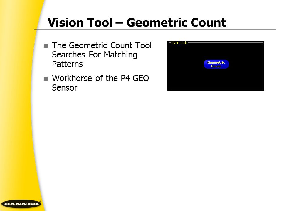 Vision Tool – Geometric Count