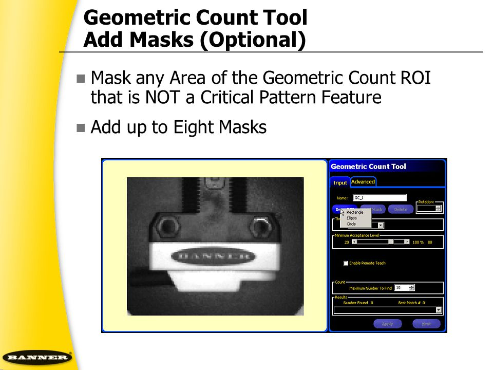 Geometric Count Tool Add Masks (Optional)
