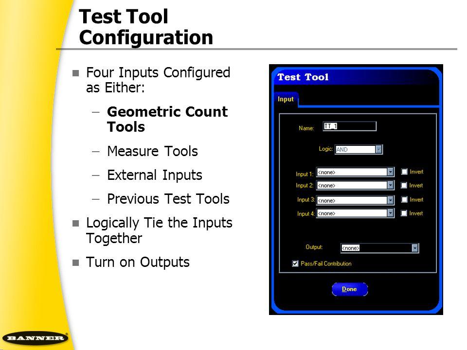 Test Tool Configuration