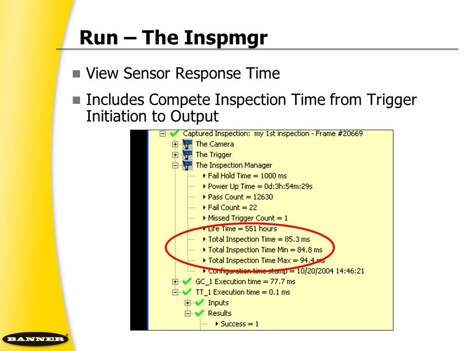 Run – The Inspmgr View Sensor Response Time