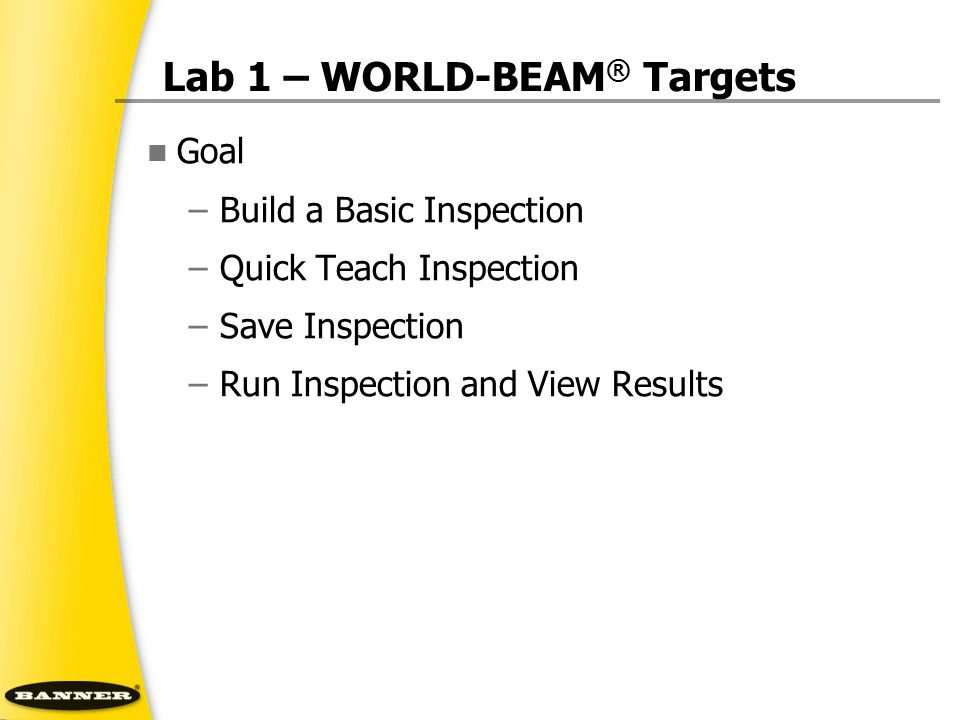 Lab 1 – WORLD-BEAM® Targets
