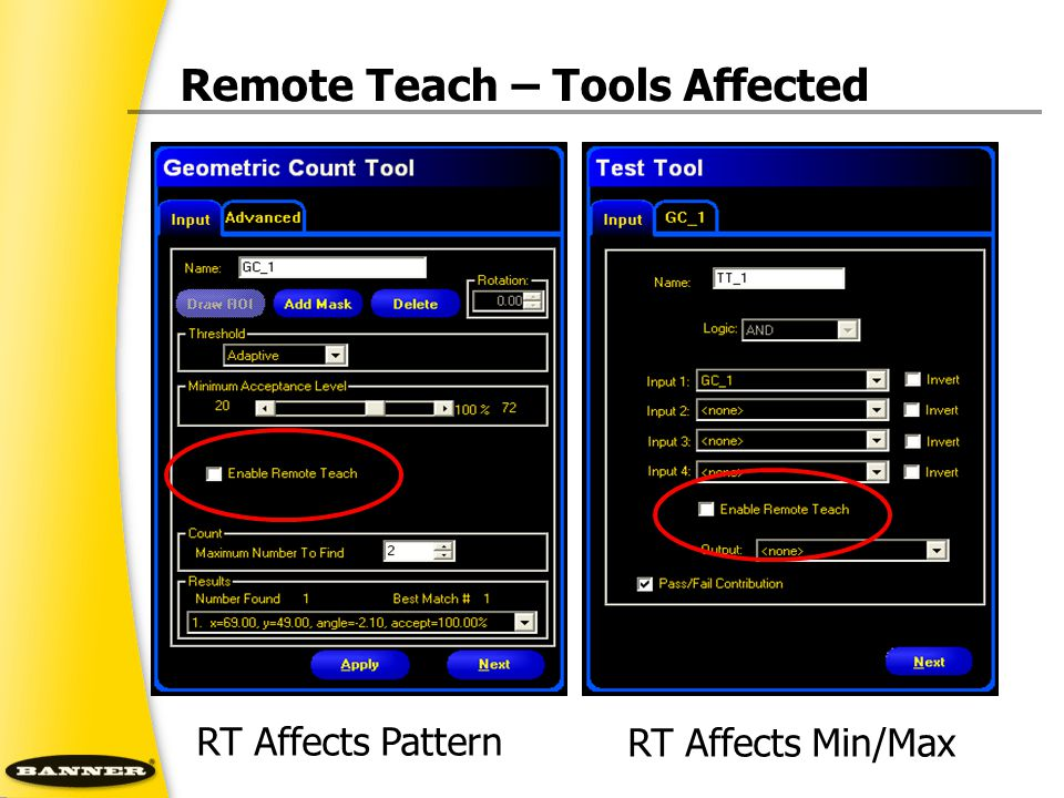 Remote Teach – Tools Affected