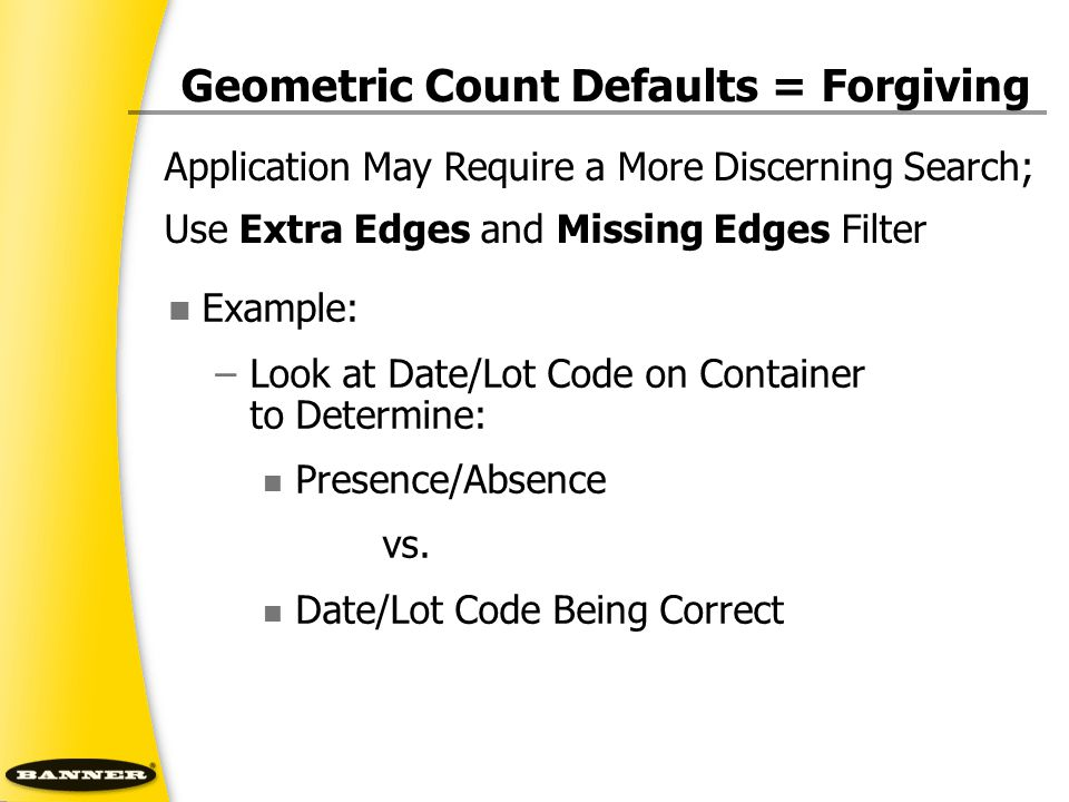 Geometric Count Defaults = Forgiving