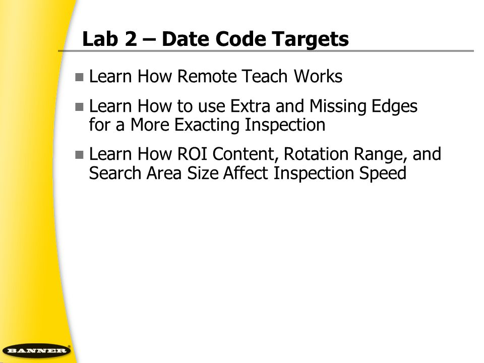 Lab 2 – Date Code Targets Learn How Remote Teach Works