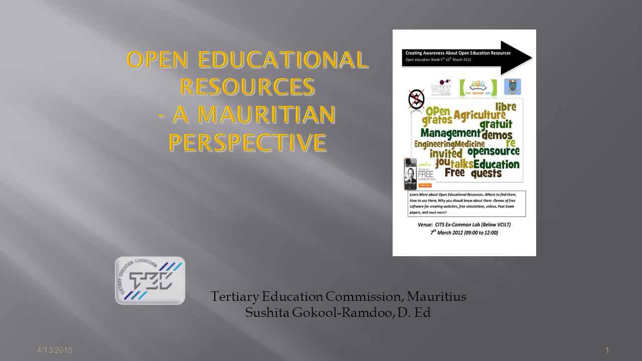 OPEN EDUCATIONAL RESOURCES - A Mauritian Perspective
