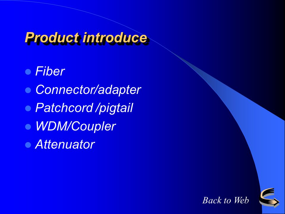Product introduce Fiber Connector/adapter Patchcord /pigtail