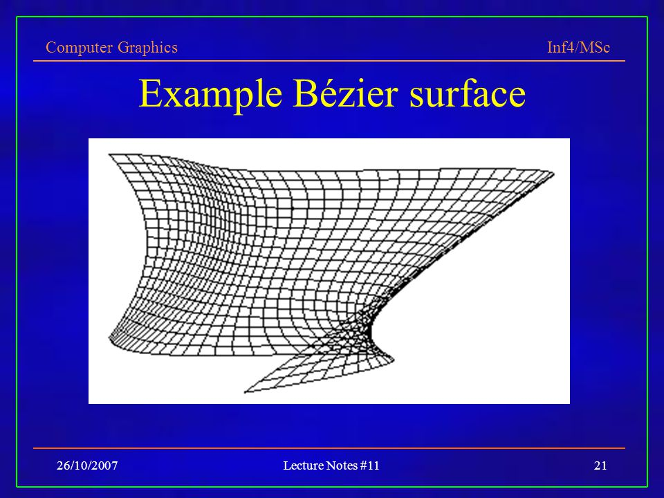 Example Bézier surface