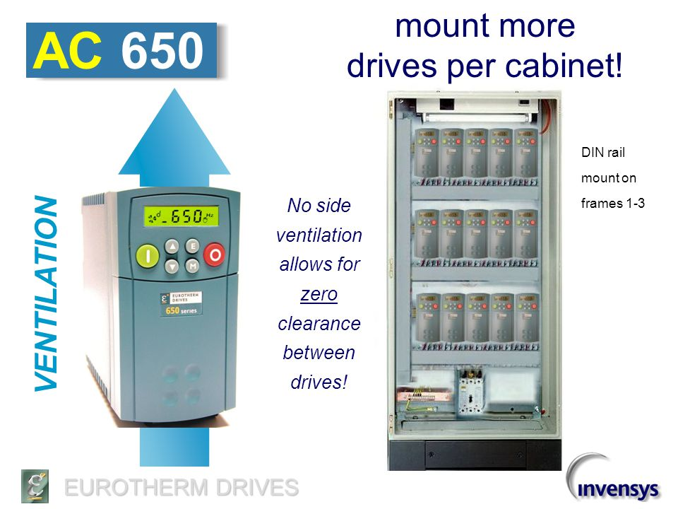 AC 650 mount more drives per cabinet! VENTILATION