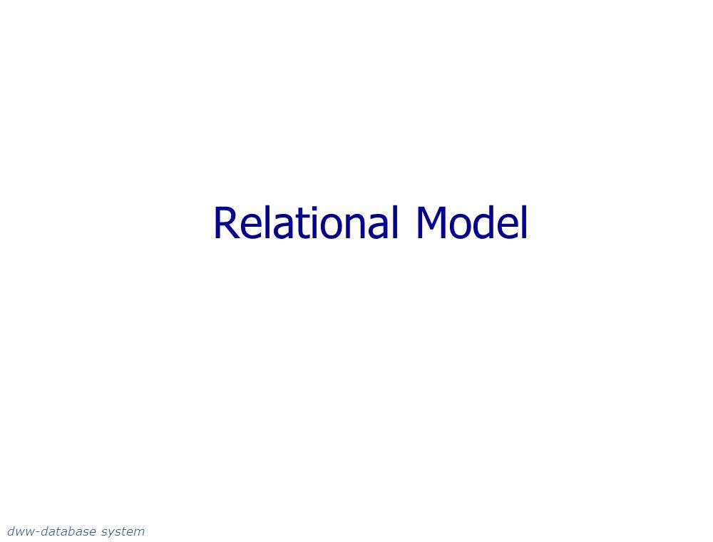 Relational Model dww-database system