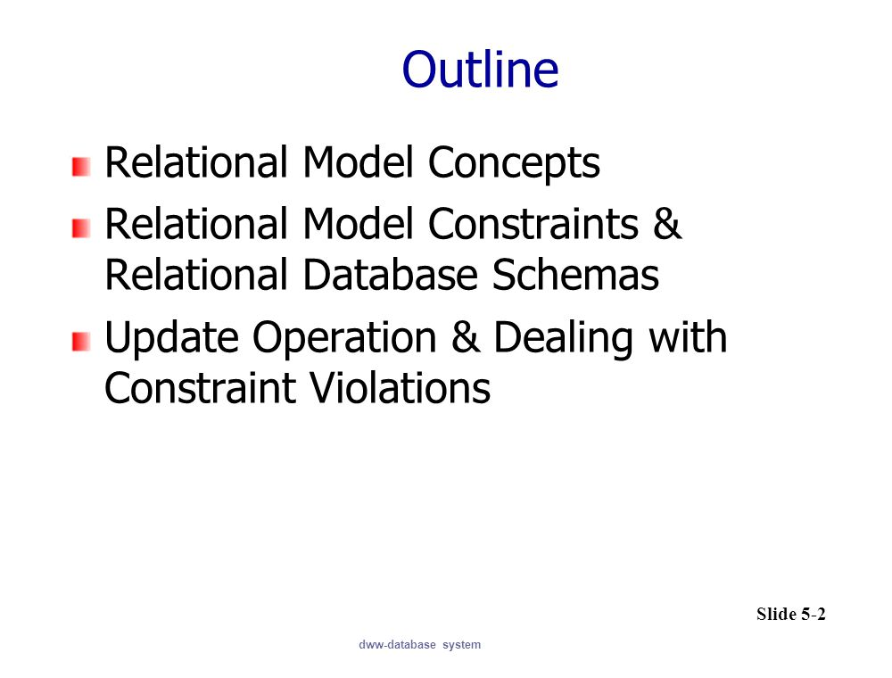 Outline Relational Model Concepts