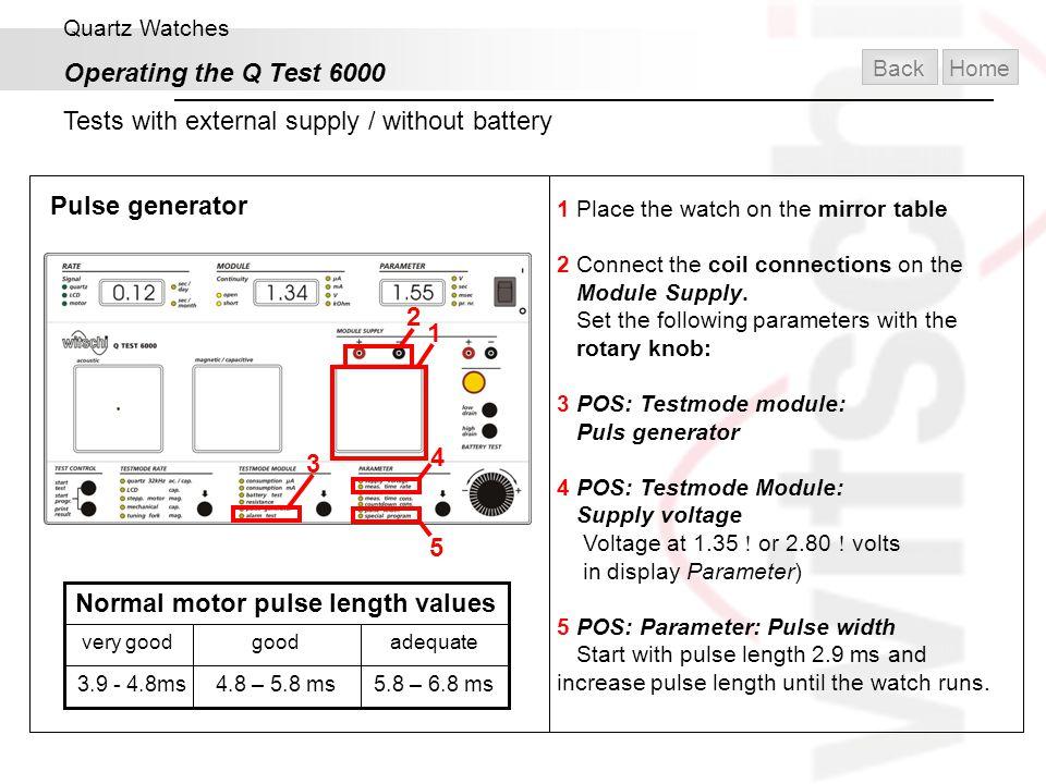 Normal motor pulse length values