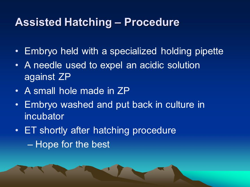 Assisted Hatching – Procedure